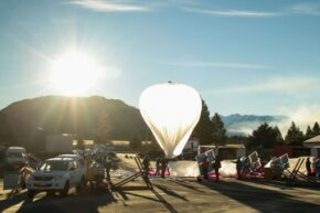 A Google Loon launch in Christchurch, New Zealand in June 2013