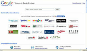 A sample of the stores that use the Google Checkout system.
