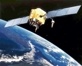 A GPS satellite