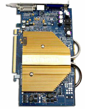 A heat sink (in gold above) uses lots of surface area to transfer heat from electronic components to the air.