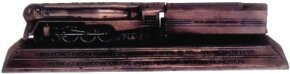 """Even as a paperweight, Henry Dreyfuss's rendering of the 4-6-4 """"Hudson"""" suggests speed and power."""