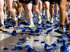 Runners generate a lot of unnecessary waste during large races.