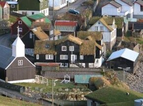 Green roofs like those on the Faroe Islands can last twice as long as conventional rooftops.