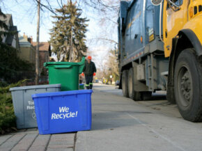 Is this recycling truck fuel efficient? Probably not. See more pictures of green living.