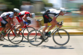 You're more likely to push yourself toward improvement if you bike with a group.