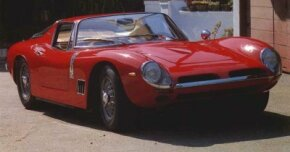 Low and squat, the Bizzarrini GT Strada 5300 began life as an Iso, hence its styling resemblance to the Grifo and use of the same Chevrolet Corvette 327 V-8.