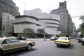 The Guggenheim Museum at 89th Street and Fifth Avenue in New York City on May 15, 1968. See more pictures of American landmarks.