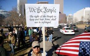 2nd amendment sign, rally
