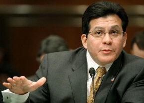 U.S. Attorney General Alberto Gonzales testifies at a Senate Judiciary hearing concerning, in part, the government's view of habeas corpus.