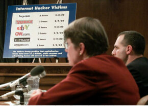 Concern about hackers reaches up to the highest levels of government. Here, former Attorney General Janet Reno testifies about hacker activity.