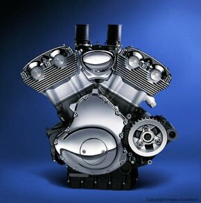 The V-Twin Revolution engine is the product of a partnership between Harley-Davidson and Porsche.