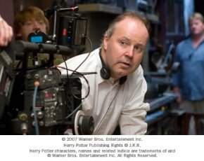 """Director David Yates on the set of Warner Bros. Pictures' fantasy """"Harry Potter and the Order of the Phoenix."""""""