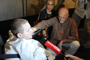 Dr. Sergio Canavero discusses his hopes to perform the world's first head transplant on Russian Valery Spiridonov at a meeting of the American Academy of Neurological and Orthopaedic Surgeons in Annapolis, Maryland, on June 12, 2015.
