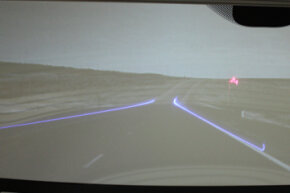 GM's full windshield head-up display technology, combined with night vision technology, allows for objects, such as deer, to be highlighted for the driver, preventing potential accidents.
