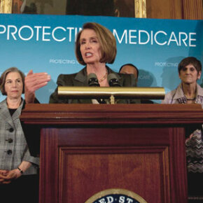 Speaker of the House Nancy Pelosi speaks about how the health care overhaul will affect Medicare.