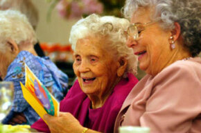 Mamie Underhill celebrates her upcoming 105th birthday with her daughter, Leita Chapman, in Los Angeles, Calif., in 2002. See more healthy aging pictures.