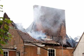 To avoid a chimney fire, check to make sure there is no buildup of creosote inside the chimney.