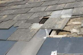 Inspect your roof twice a year for missing shingles, tears and other damage.