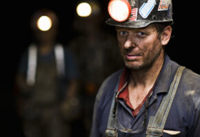 Coal miners have literally the dirtiest job -- they emerge from the mines every day covered in black dust.