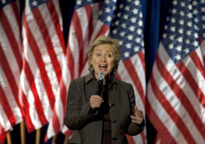 "Hillary Clinton at a fundraiser for her 2008 campaign called ""Holidays with Hillary"" in December 2007. The event raised over $1 million in one night."
