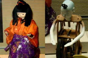 Many of the inner workings of these dolls are skillfully hidden with beautiful clothing.