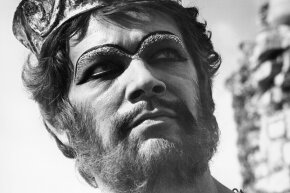 "Stephen Boyd portrays the defiant King Nimrod in a scene from the 1966 film ""The Bible: In The Beginning""."