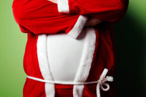 Even Santa is guilty of bingeing on cookies during the holidays.
