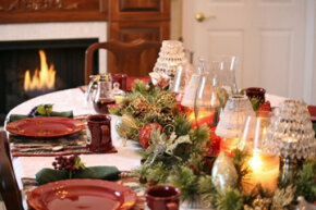 Don't put all the pressure on one cook; let everyone help out. See more pictures of holiday table settings.
