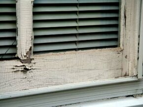 Cracked paint around windows, doors and stairs can leech lead.