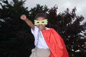 Every kid dreams of being a caped crusader.
