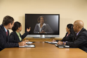 Web conferences are a great way to hold sales meetings or new product launches.