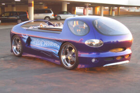 The life-size Hot Wheels Deora II — built by Chip Foose