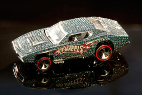 The Hot Wheels 40th anniversary jeweled car