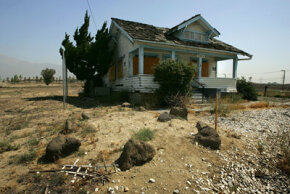 What happens to a house that is neglected -- or abandoned like this one along old Route 66 in Rancho Cucamonga, Calif.? See more home construction pictures
