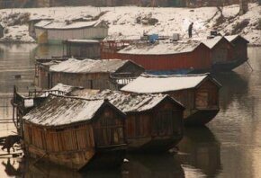Houseboats in Srinigar, India