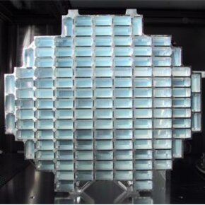This dust collector for the spacecraft STARDUST was outfitted with 260 aerogel panels.