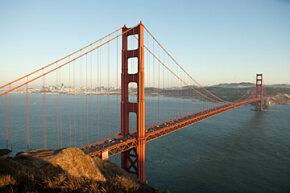 San Francisco's Golden Gate Bridge stands as a classic example of a suspension bridge.