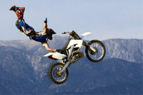 Motocross and other extreme off-road sports have high rates of injuries and hospitalization. Some of the riders trying to executive this seat-grab trick probably make up those stats. See more off-roading pictures.