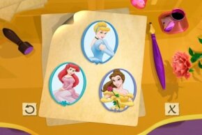 Disney Princess extends into all forms of media. This is from an interactive video.
