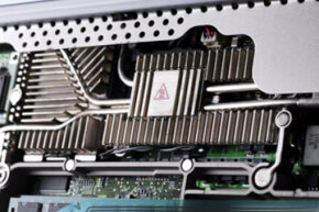 Heat sinks are designed to prevent today's high-tech computers from over heating. See more computer hardware pictures.