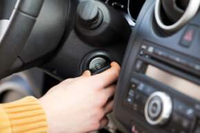 Most modern cars won't start if the wrong key (or no key) is inserted into the ignition cylinder.