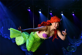 Arguably the most famous mermaid does her thing at a Disney park outside of Tokyo.