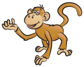 Learn how to draw this monkey.