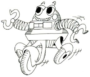 Robot Image Gallery Learn how to draw a cartoon robot with our simple step-by-step instructions. See more pictures of robots.