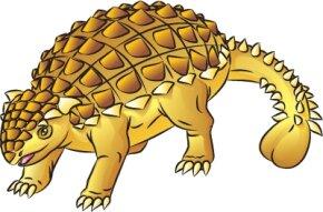Learn how to draw this Ankylosaurus dinosaur.
