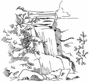 Learn how to draw this waterfall landscape.