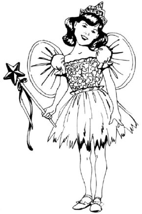 Draw a little girl in a fairy costume by following our step-by-step directions.