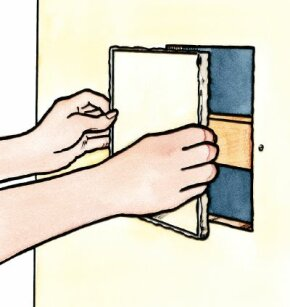 An inexperienced home repairman can fix drywall, even replacing large sections.