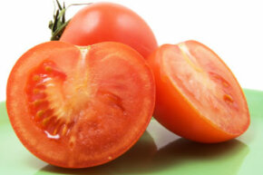Before you blanch tomatoes, cut out their brown stem scars.