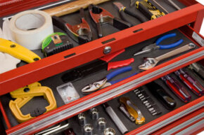 Organizing your tools can save you time when starting a home project. See pictures of power tools.